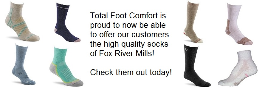 Total Foot Comfort is proud to present the highest quality socks from Fox River Mills!